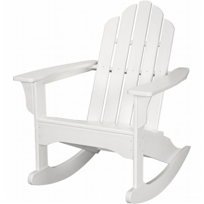All-Weather Adirondack Rocking Chair, White