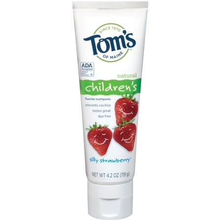 Toms du Maine enfants idiot fraise Dentifrice Fluoride 42 oz