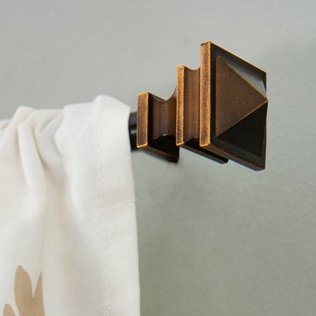 Kenney 1 2 Diameter Arts And Crafts Petite Curtain Rod Oil Rubbed Bronze