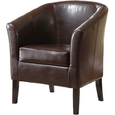 Linon Simon Club Chair, Multiple Colors, 19.5 inch Seat Height