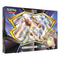 Pokemon Kangaskhan GX Box- 1 Foil Card | 4 Booster Packs- TCG Pokemon Trading Cards