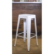 AmeriHome Loft White 30 in. Metal Bar Stool 4 Piece by Buffalo Corp