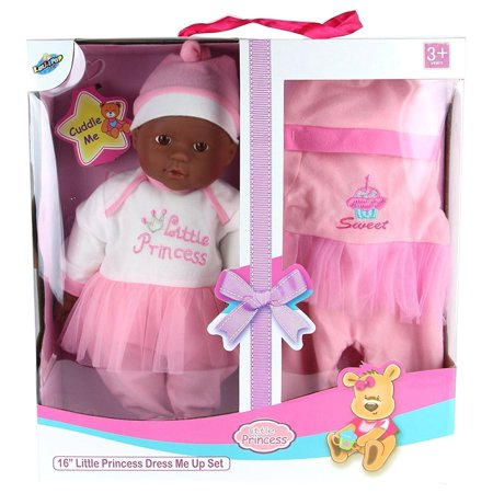 Lollipop Toys Little Princess African American Doll Dress Me Up Set, 16