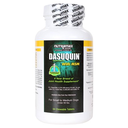 Nutramax Dasuquin with MSM Joint Health Supplement for Small & Medium Dogs, 84 Chewable