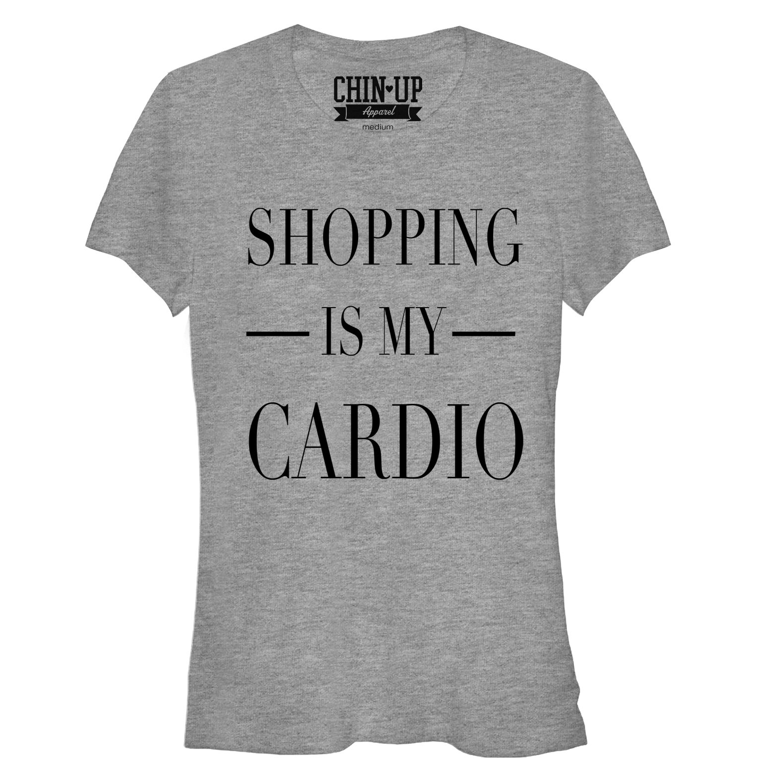 Chin Up Juniors' Shopping is My Cardio T-Shirt