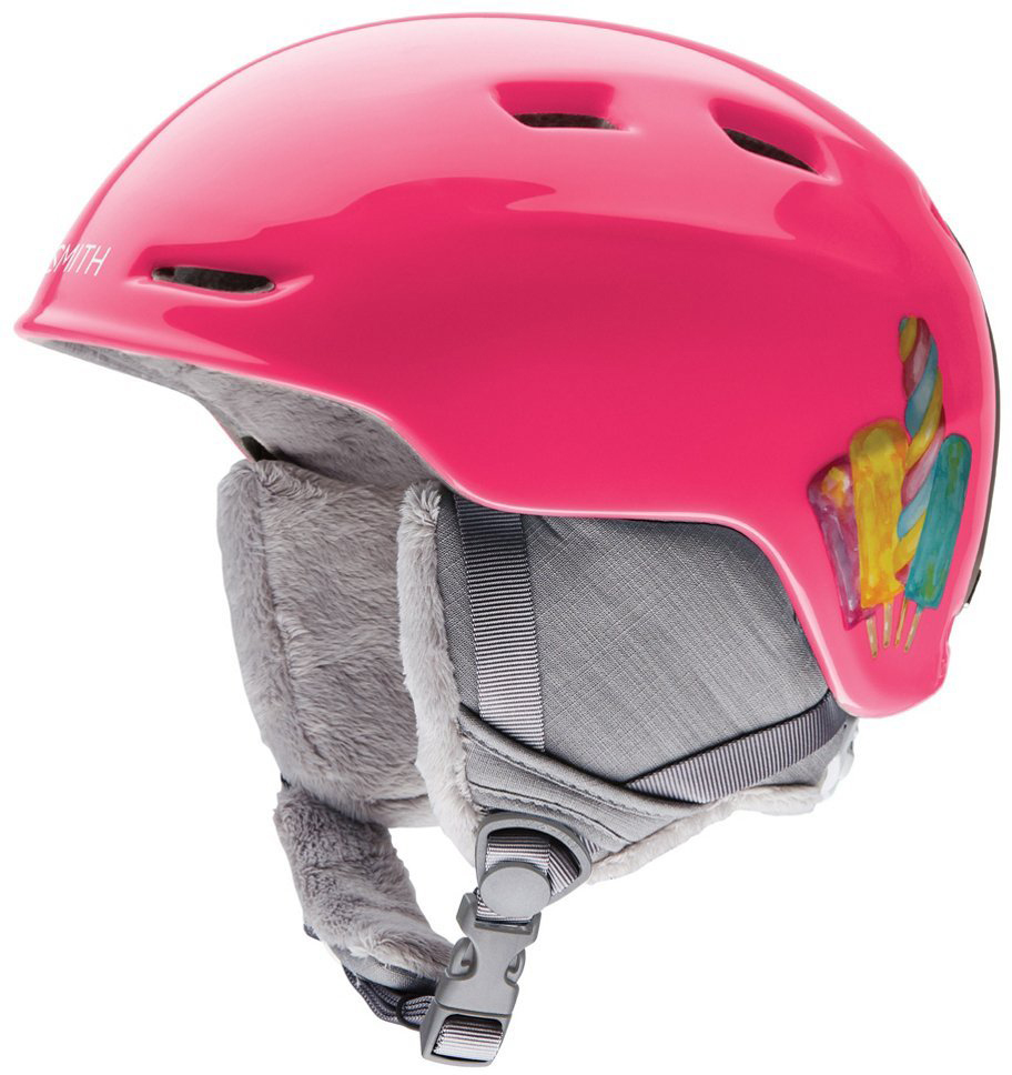 Smith Optics Zoom Jr Ski Snow Helmet (Pink Popsicles Youth Small) by Smith Optics