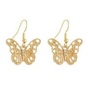 Jocestyle Hollow Half Crystal Stud Fashion Jewelry Women Earrings (CH0862 Butterfly)