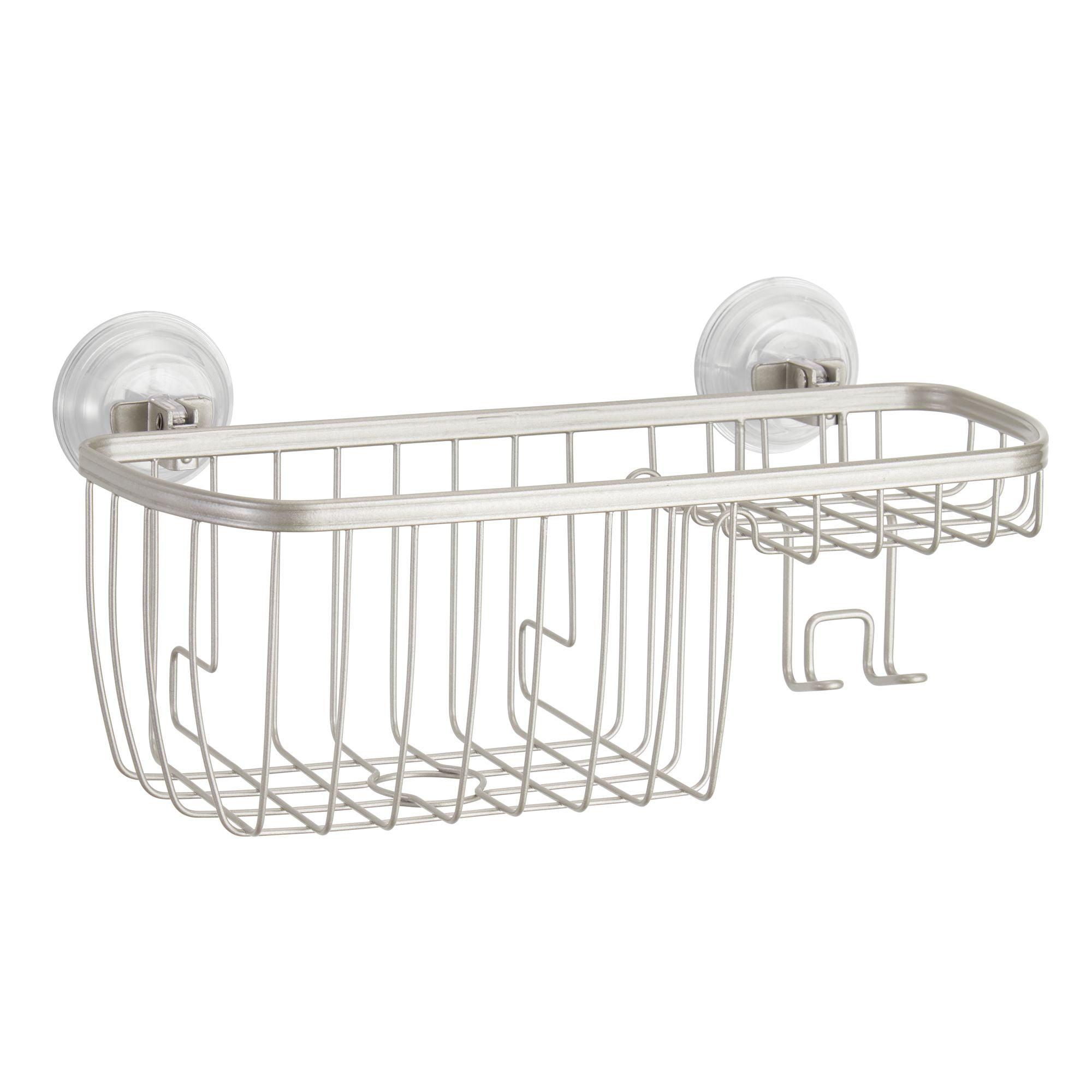 Better Homes & Gardens Satin Suction Shower Basket
