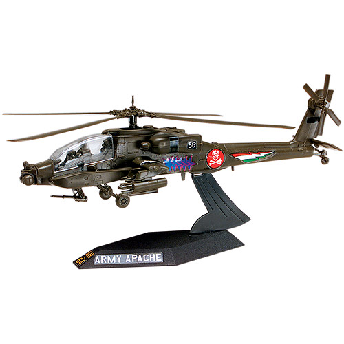 Revell Plastic Model Kit Desktop AH-64 Apache Helicopter Plastic Model Kit, 1:72