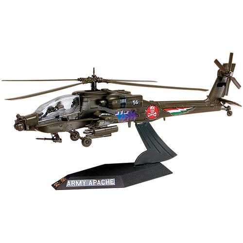 Revell Plastic Model Kit Desktop AH-64 Apache Helicopter Plastic Model Kit, 1:72