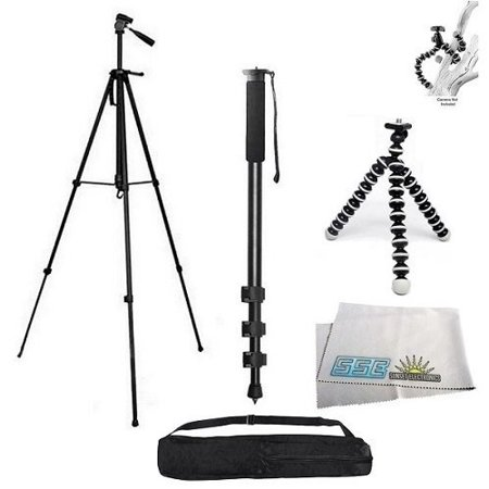 3 Piece Best Value Tripod Package For The Samsung NX200, NX210, NX300, NX1000, NX1100, NX2000 & NX3000 Digital Cameras Includes 1 professional 75 Inch Tripod With Carrying Case, 1 Professional 72