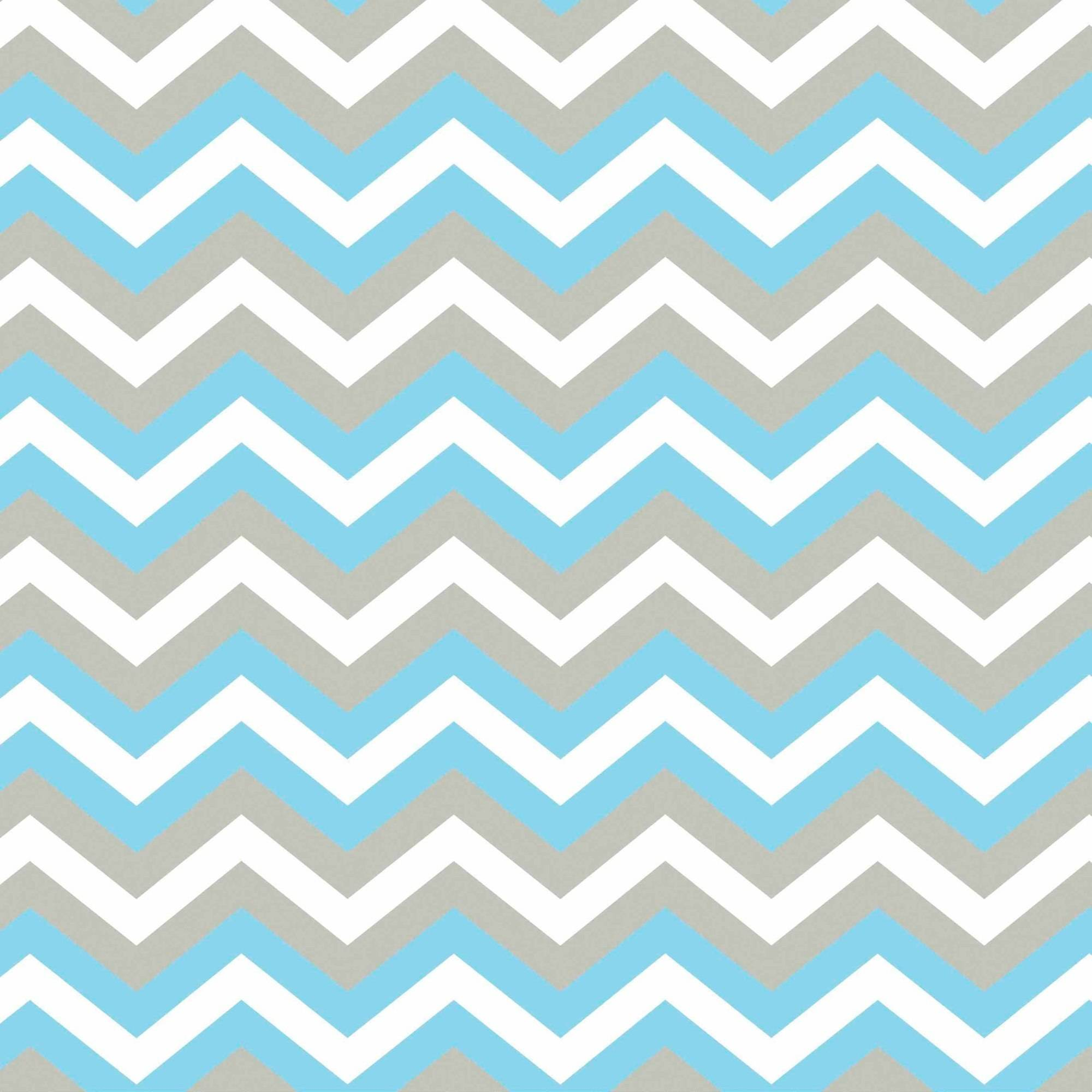 "Chevron Blue/Grey Anti-Pill Polyester Fleece Fabric By The Yard, 60"" Wide"