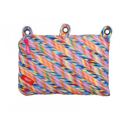 ZIPIT Colorz 3 Ring Pencil Case, Stripes (Stripes Hand Painted 3 Top)