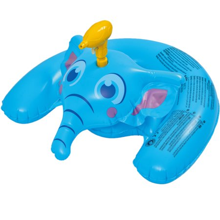Inflatable Ride-On Elephant with Squirt Gun Swimming Pool Float, 35-Inch](Awesome Squirt)