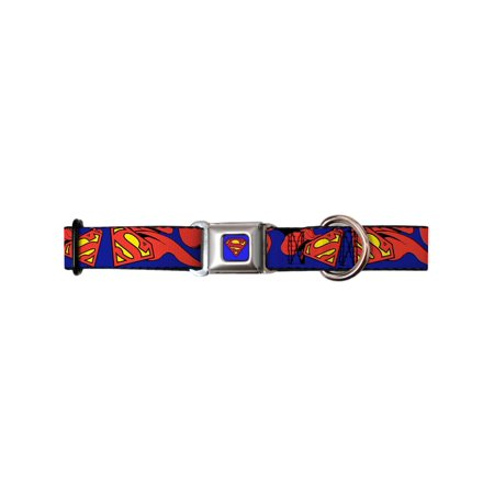 Superman DC Comics Superhero Classic Logo Waving Seatbelt Fun Pet Dog Cat Collar - Superman Pet