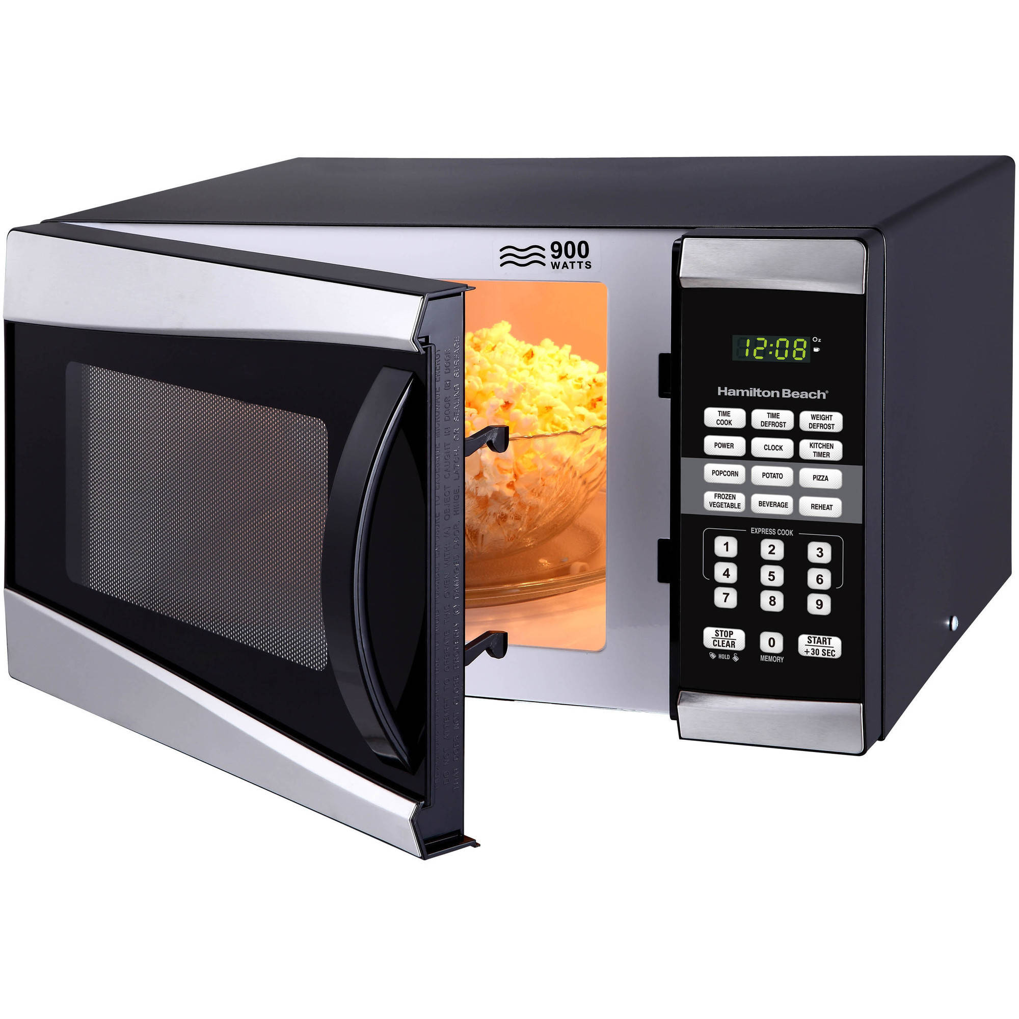 Hamilton beach 09 cu ft 900w microwave stainless steel walmart sciox Images