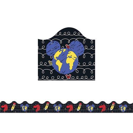 Eureka EU-845225BN Garniture de d-co d-coup-e - l'emporte-pi-ce extra-large au crayon Apple World Pop de Mickey - image 1 de 1