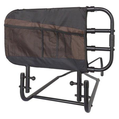 Stander EZ Adjust Home Bed Rail -Length Adjustable and Folding Rail, Black