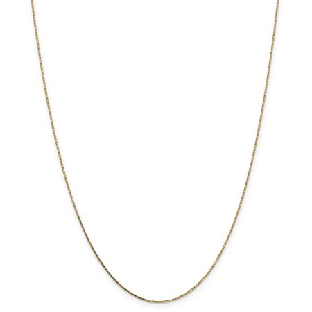 14k Yellow Gold .7mm Link Box Chain Necklace 24 Inch Pendant Charm Gifts For Women For Her Chain Necklace Gift Box