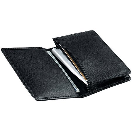 Royce Leather Deluxe Business Card Case Holder in Genuine Leather