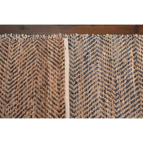 Imagine Home Sebastian Hand-Woven Black/Brown Area Rug