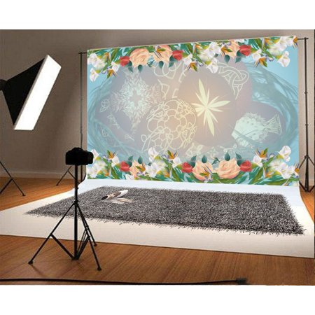 GreenDecor Polyester Easter Backdrop 7x5ft Christian Rebirth Holiday Party Decoration Eggs Flowers Greeting Card Spring Hope Newborn Baby Theme Children Birthda for $<!---->