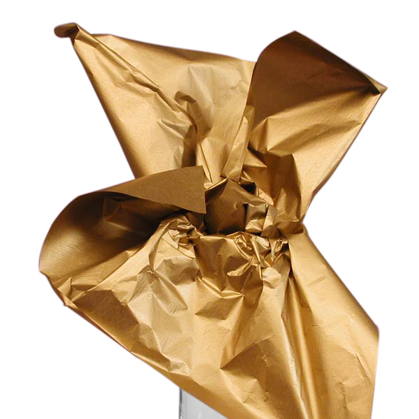 """Gold Two Sided Metallic Tissue Paper 