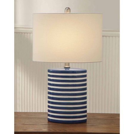 Blue and white striped ceramic lamp with walmart blue and white striped ceramic lamp with aloadofball Images
