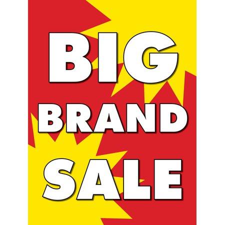 Big Brand Sale Retail Display Sign, 18
