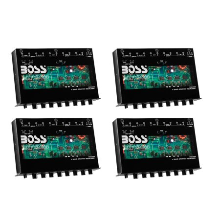Ic Dual Audio Preamp (Boss EQ1208 4-Band Preamp Car Audio Equalizer w/ Subwoofer Sub Output (4 Pack))