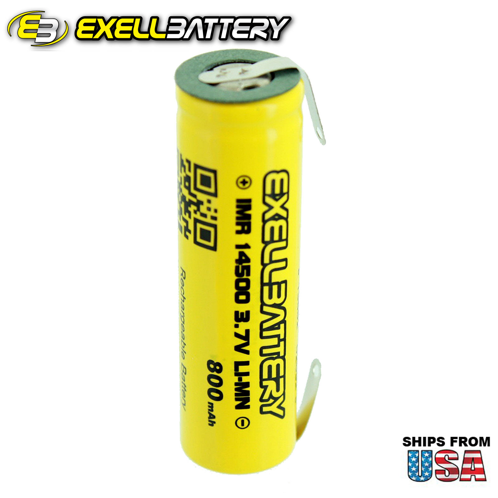 IMR 14500 LiMN 800mAh Rechargeable High Drain Battery With TABS USA STOCK