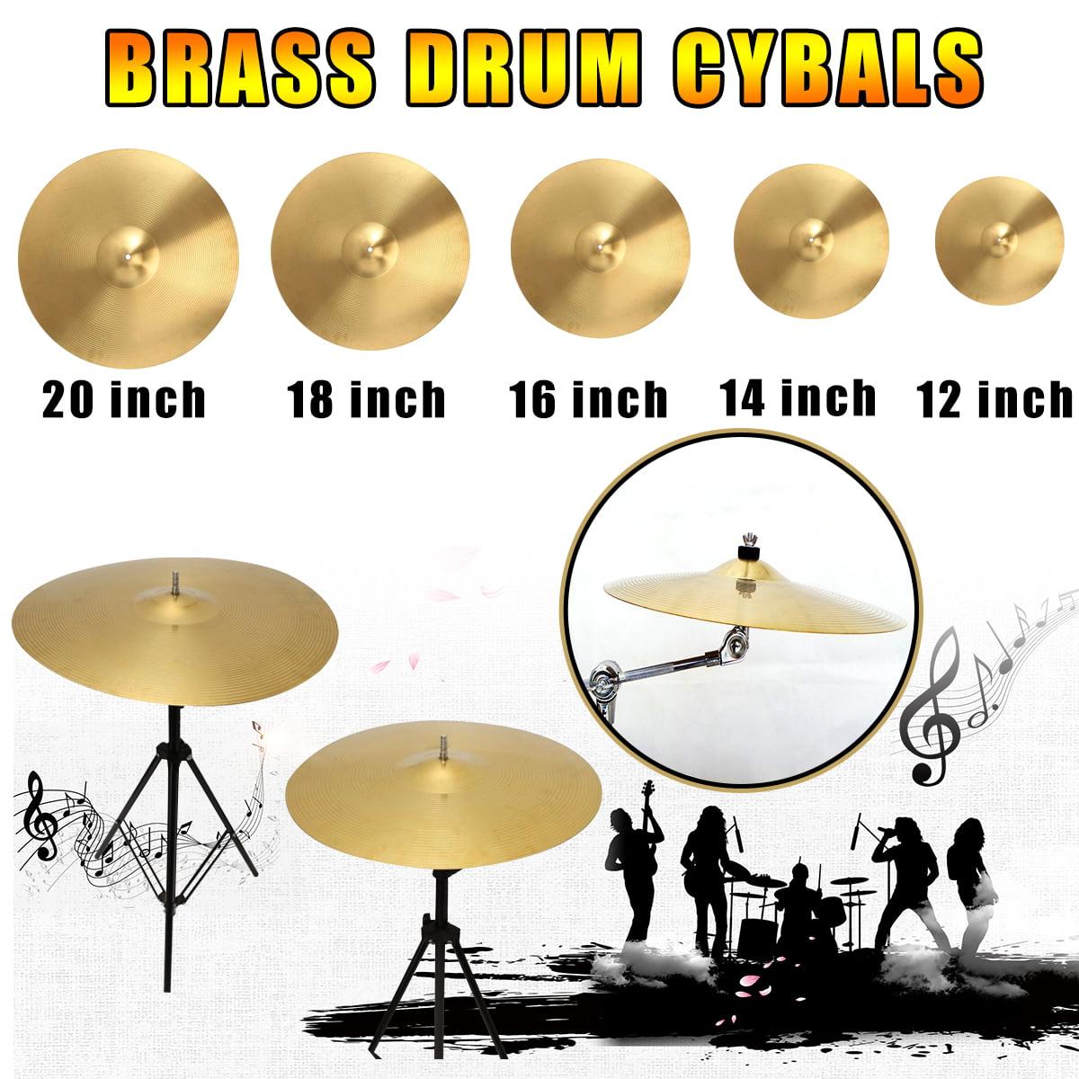 "12"" 14"" 16""  Splash Hi-hat Crash Ride Cymbal for Percussion Drum Set Brass"