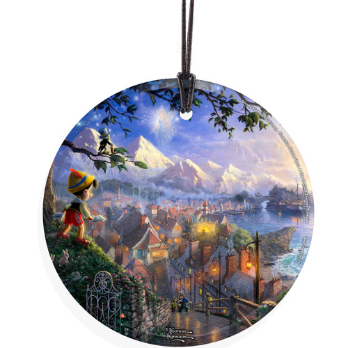 Trend Setters Thomas Kinkade (Pinocchio Wishes Upon A Star) StarFire Prints Wall D cor