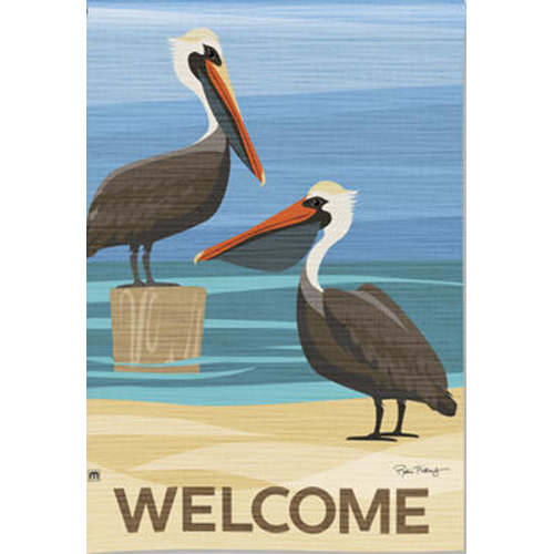 Magnet Works MAIL36837D Pelican Cove Garden Flag