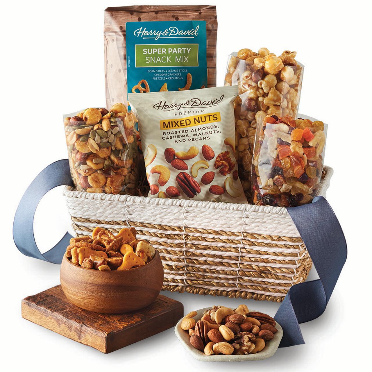 Harry & David Popcorn, Nuts, and Dried Fruit Snack Gift Basket - Walmart.com
