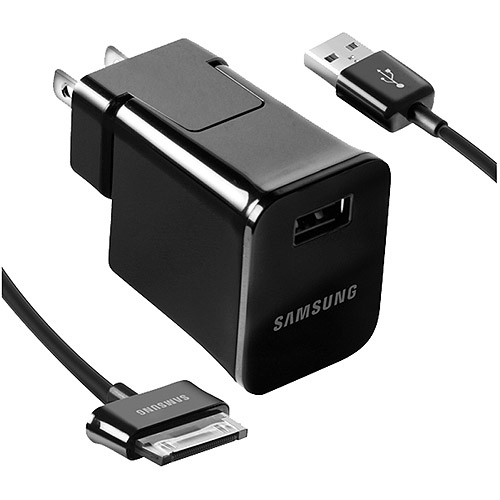 Detachable Travel Charger for Samsung Galaxy Tablet PCs