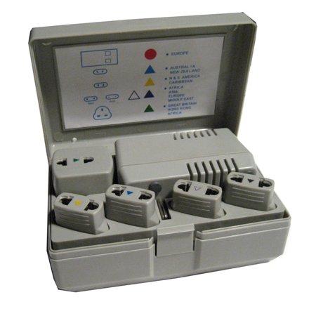 World Travel Voltage Converter Adapter Plug Power Kit 50 1600 Watt Ac Us Eu New