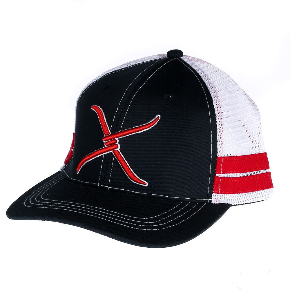 Western Fashion Accessories Mens  Western Fashion Navy/Red Mesh Cap OS Blue White