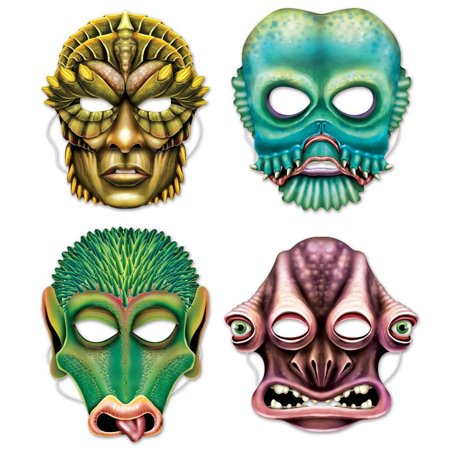(Pack of 12) Beistle Alien Masks for $<!---->