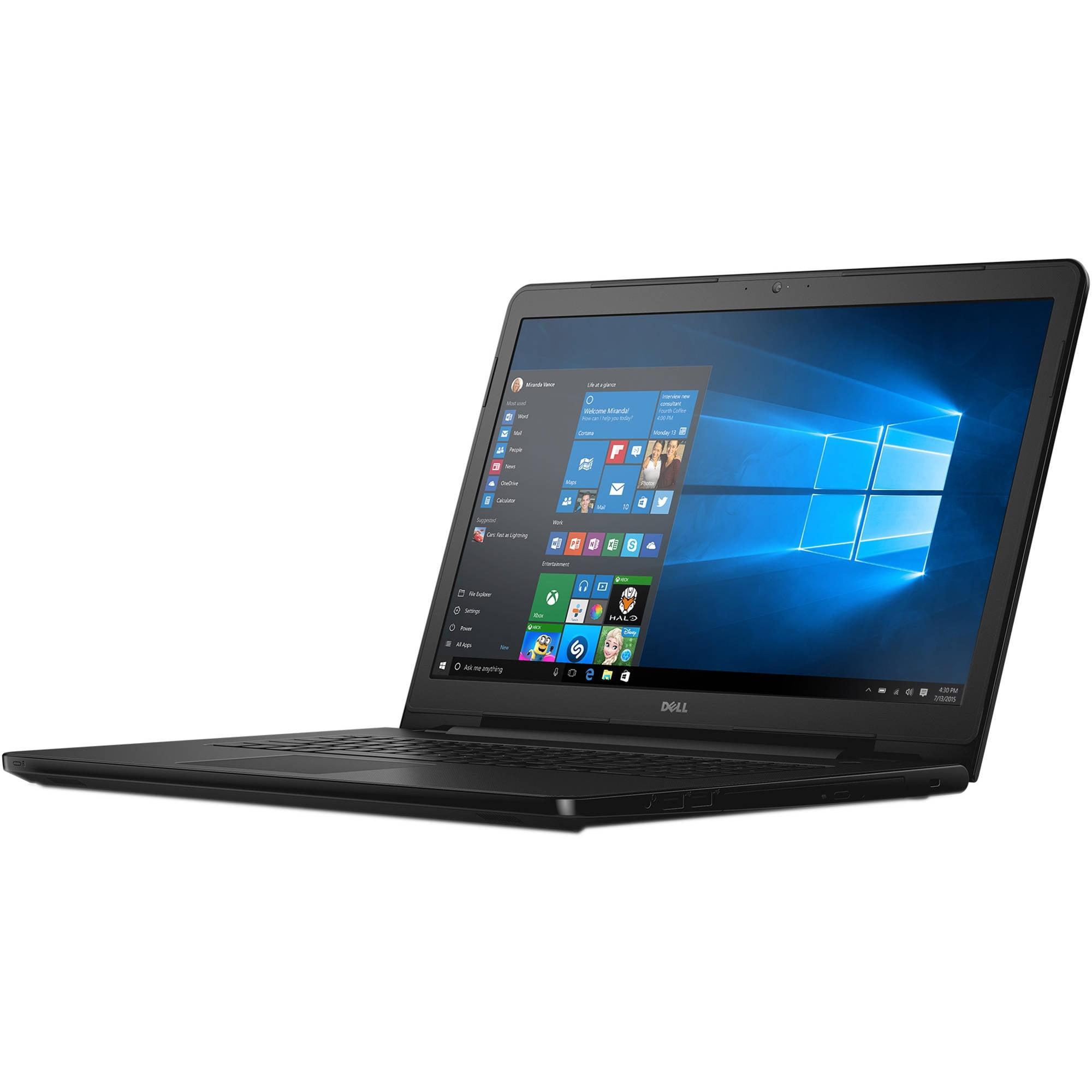 "Dell Inspiron 17-5759 Intel Core i3-6100U X2 2.3GHz 4GB 500GB 17.3"" Win10,Black (Scratch And Dent Refurbished)"