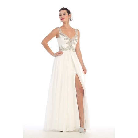 4dbb7dd07 The Dress Outlet - Long Prom Plus Size Dress Formal Gown 2018 - Walmart.com