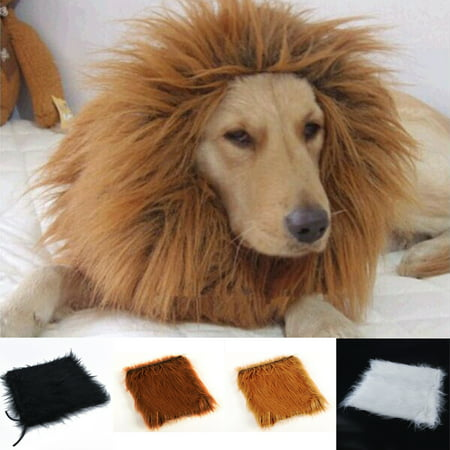 Girl12Queen Pet Costume Lion Mane Wig for Dog Halloween Clothes Festival Fancy Dress Up - Beer Dog Halloween Costume