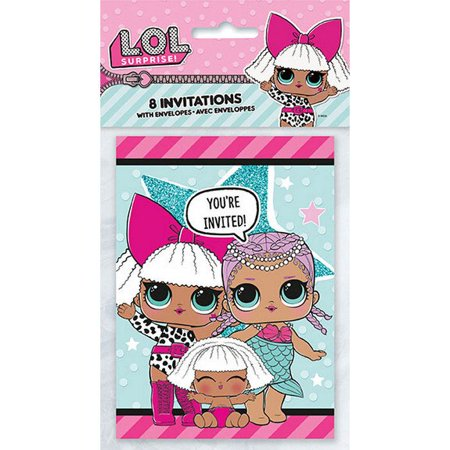 LOL Surprise Party Supplies 32 Invitations](Slumber Party Invitations)