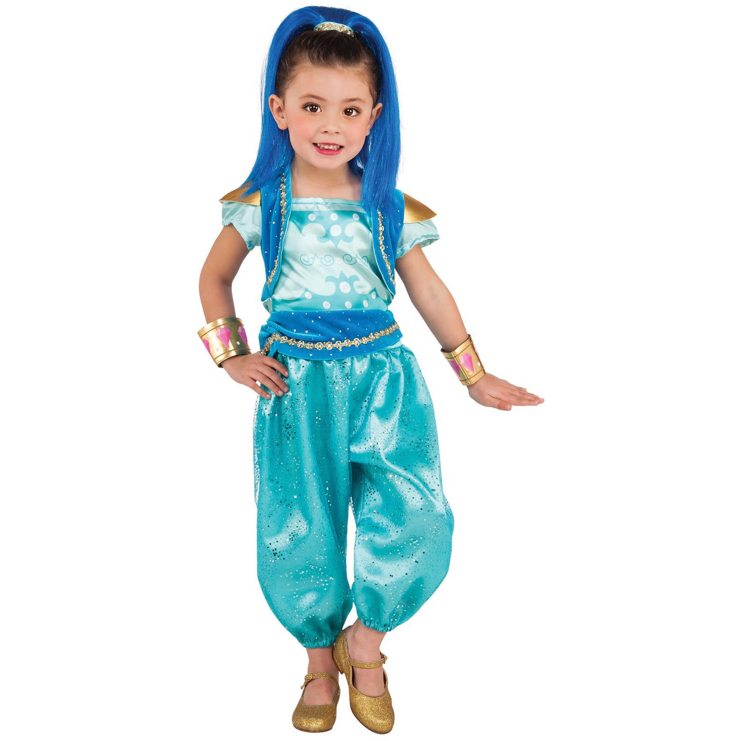 shimmer and shine: shine deluxe toddler halloween costume - walmart