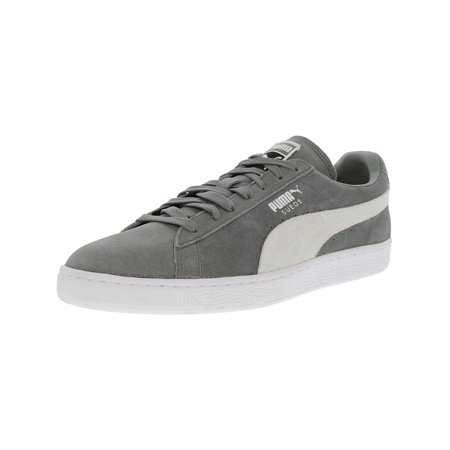 promo code e9cf5 32a8f Puma Men's Suede Classic + Agave Green / White Ankle-High Fashion Sneaker -  11M