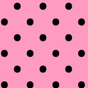 V.I.P by Cranston Black on Pink Fabric, per Yard