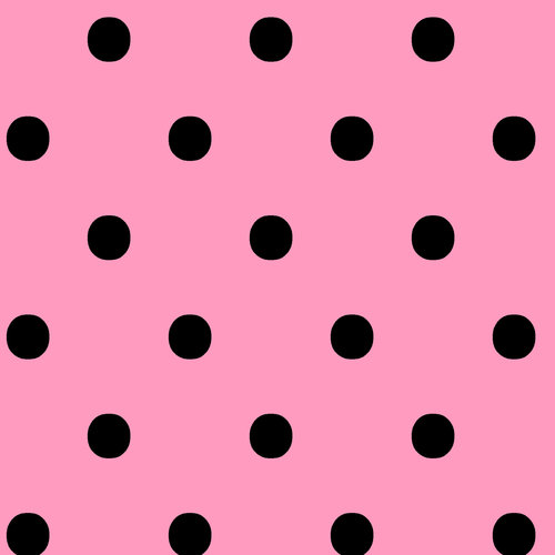 VIP Fabrics Dots Fabric, Black on Pink
