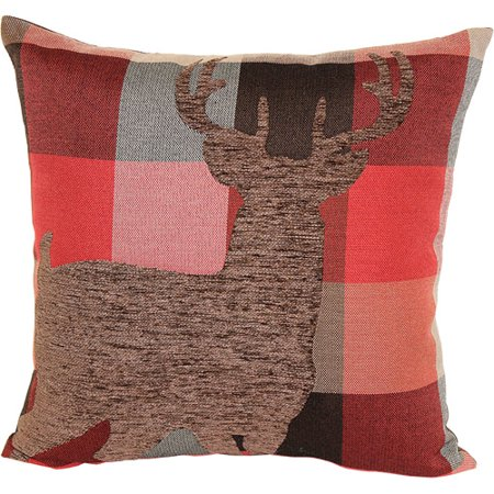 Better homes and gardens deer plaid decorative pillow - Better homes and gardens pillows ...