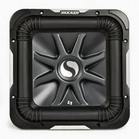 Kicker 11S8L74 450 Watt DVC 4 Ohm Solo-Baric L7 8-Inch Square Subwoofer