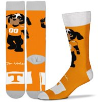 Tennessee Volunteers For Bare Feet Youth Mascot Flag Crew Socks - No Size